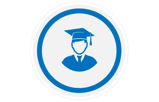 Icono de formación con graduado